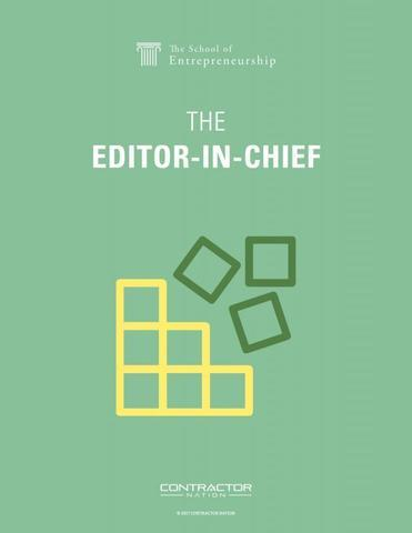 Becoming the Editor-in-Chief
