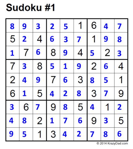Sudoku Answers for TraVek's Newsletter