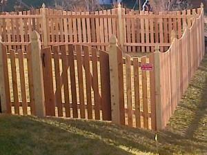 Thank you so much for the beautiful fence!