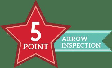 Arrow Renovation 5-Point Inspection