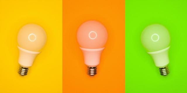 update your lighting with colorful light bulbs