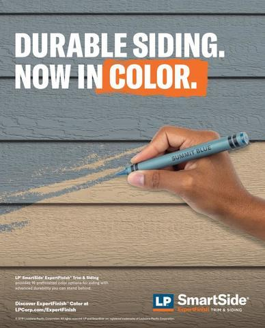 LP SmartSide ExpertFinish now in color