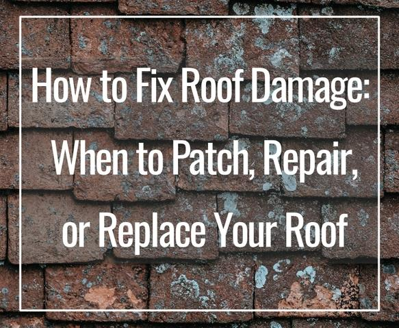 Do you have roof damage and are wondering how to fix it?