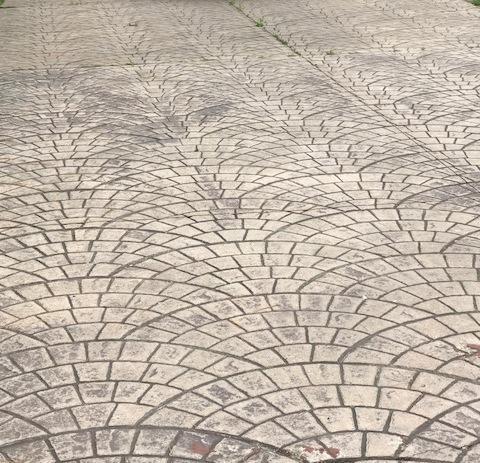Custom Stamped Concrete Driveway