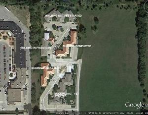 This Google image shows the progression of our latest cedar shake project in our Omaha, Nebraska market....