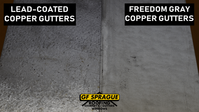 Freedom Gray Gutters vs Lead-Coated Copper Gutters - Image 2