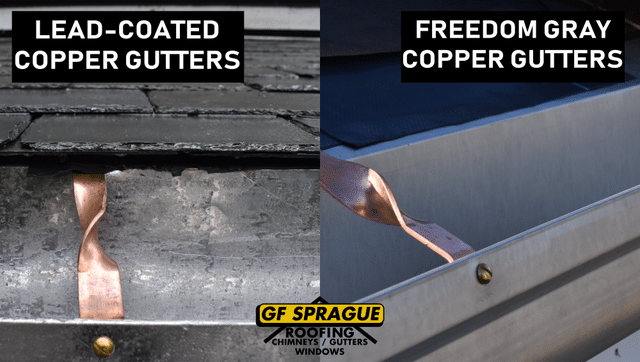 Freedom Gray Gutters vs Lead-Coated Copper Gutters - Image 1