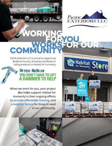 Pacific Exteriors LLC is proud to support our local community and offer a helping hand to our local Habitat for...