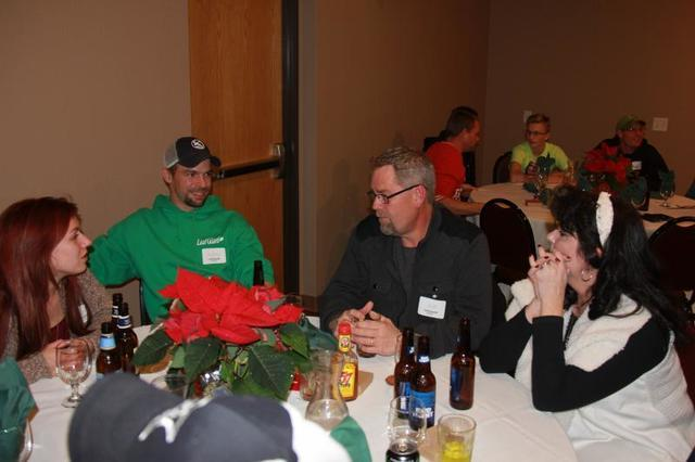 Jeff and his wife chatting with Dylan and his wife. Jeff is our rep in South Dakota, and Dylan is our rep from Brainerd MN
