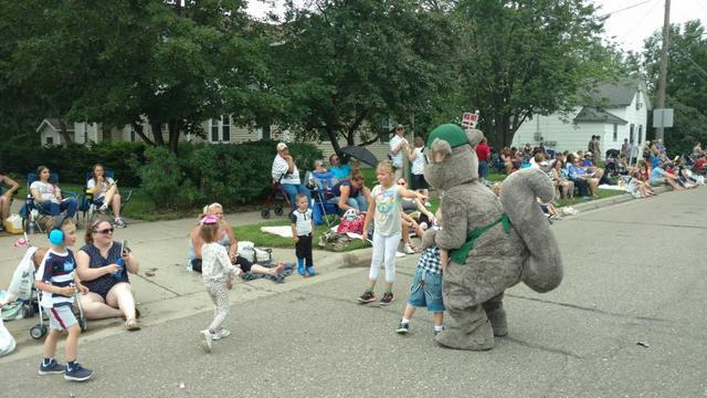 Squirrelly at the 4th of July Parade 2018