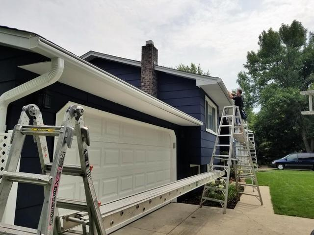 Installation of LeafGuard Gutters