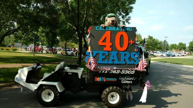 Squirrelly the LeafGuard Squirrel came out to enjoy the festivities at the parade this 4th of July!...