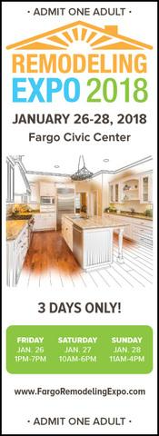 Are you going to the 2018 Fargo Remodeling Expo? Need tickets? We got you covered! Just print off these complimentary...