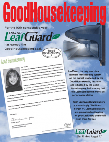 LeafGuard has been put through rigorous tests performed by the Good Housekeeping Institute. The superior design of LeafGuard has earned...