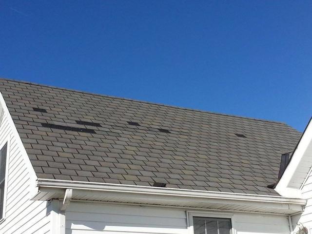 Roof Missing Shingles