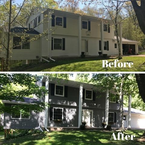 Before and After Minnetonka siding project