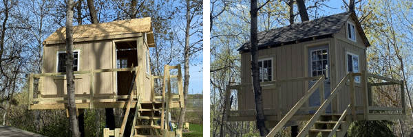 Trinity Exteriors Shingles New Treehouse in Blaine, MN
