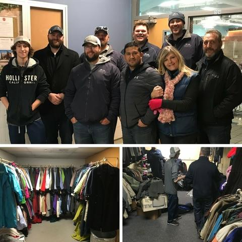 Trinity Exteriors accomplishes its 2017 community outreach goal by helping the Salvation Army Coat Drive...