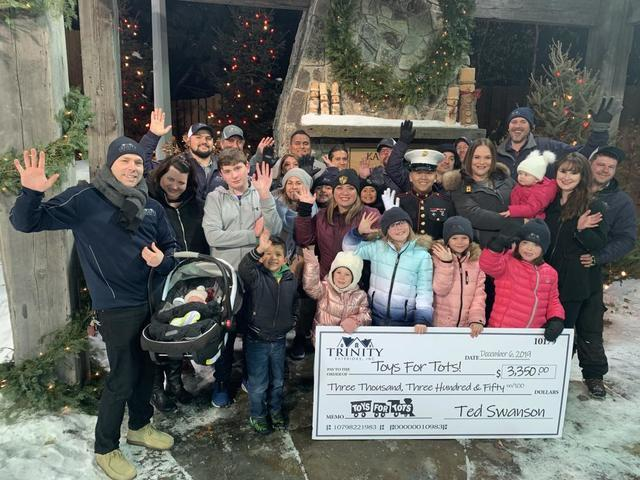 Trinity Exteriors Donates $3,350 to Toys for Tots
