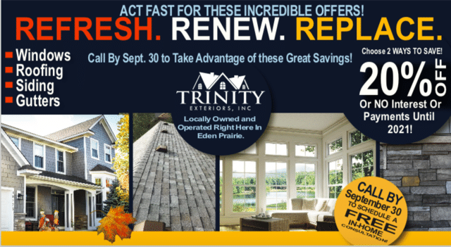Check Out Our Trinity Exterior Inc's Fall Special!