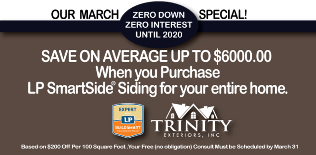Trinity Exteriors March Special!