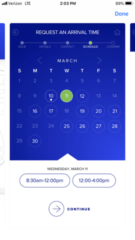 Request a schedule time that works for you
