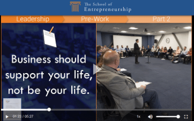 Screenshot of live class for owners of home improvement businesses