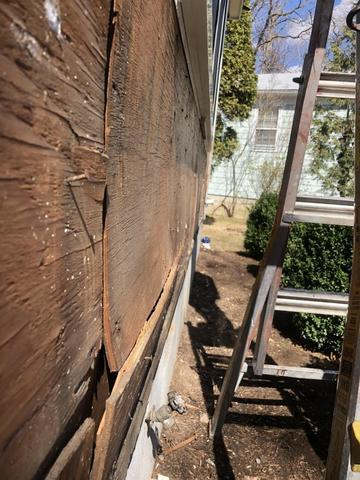 Rotted Wall Sheathing