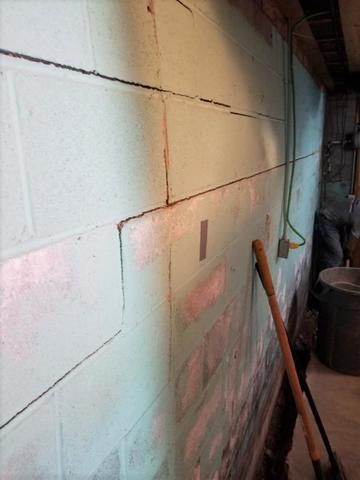 Cracked and Bowing Basement Wall