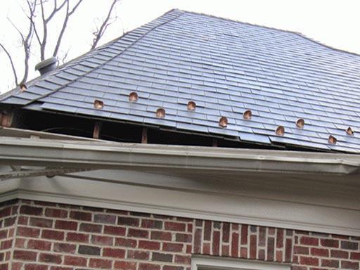 Roof damage after storm