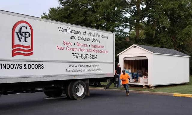 On Saturday, September 29, Custom Vinyl Products provided a truck, volunteers, and a driver to take Hurricane Florence relief supplies...