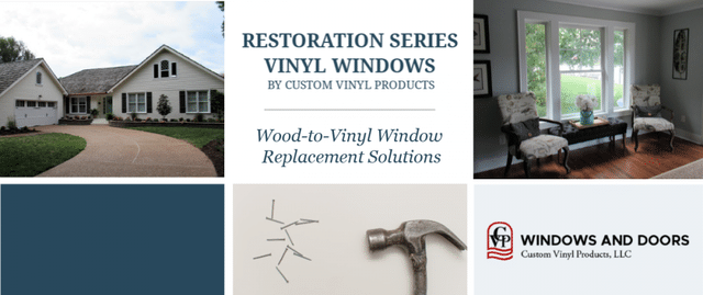 Custom Vinyl Products is the only company to offer a true architecturally-correct vinyl replacement window. Our wood-to-vinyl window solution restores...