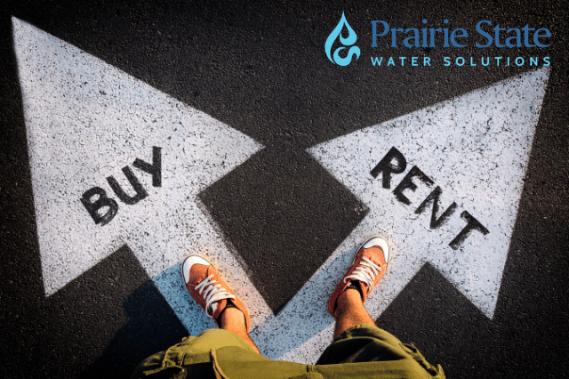If you're renting your water softener the potential buyer would have to factor in the cost of buying and installing...