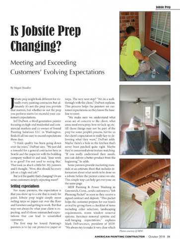 InPaint Magazine Talks Prep Work and Expectations with MDF Painting
