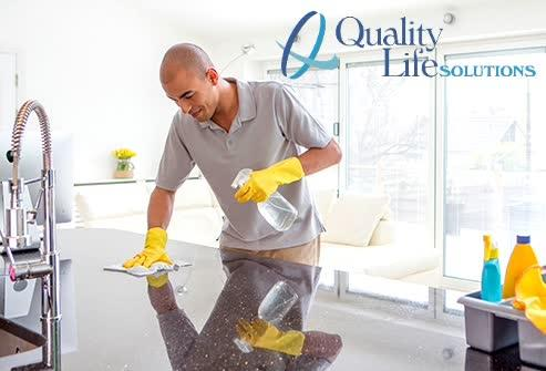 CLEANING AND DISINFECTING HOME SURFACES: SOFT VS. HARD WATER