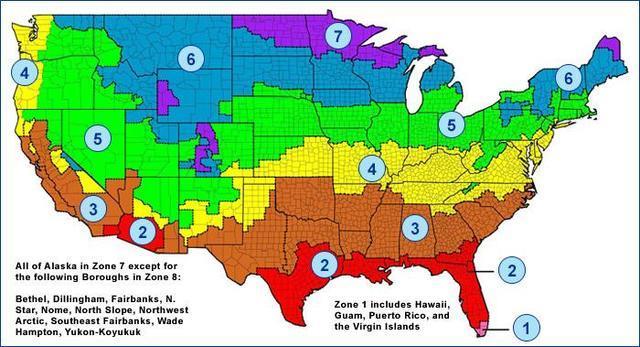 Energy Star Temperature Zones