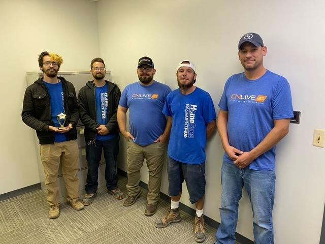 Jon Davis and his crew with their awards