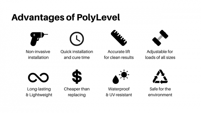 level your uneven cracked concrete with polylevel