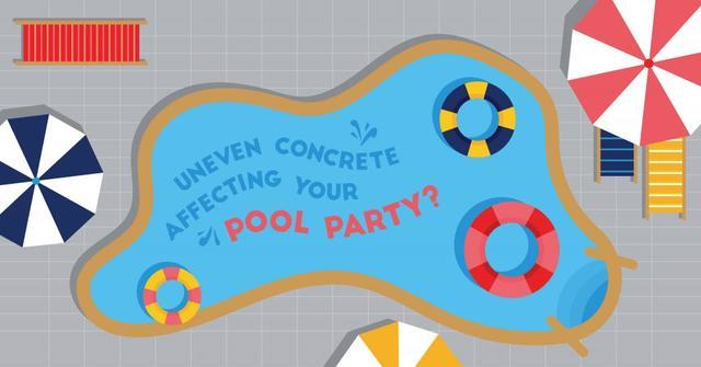 Don't let an uneven concrete pool deck or patio RUIN your Memorial Day pool...