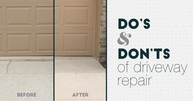Repair, Don't Replace Your Cracked or Sunken Driveway