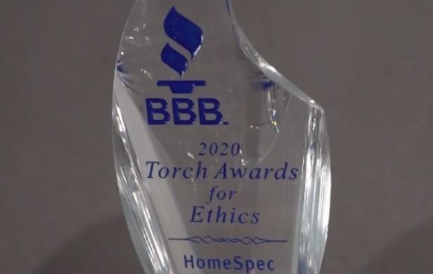 HomeSpec Wins 2020 Torch Award for Ethics
