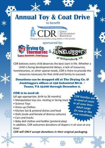 2020 Annual Toy & Coat Drive to Benefit Child Development Resources