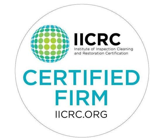 Level Creek Property Restoration is an IICRC Certified Firm