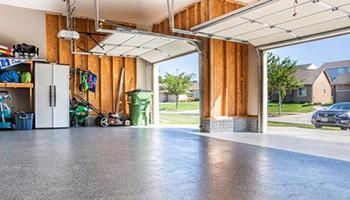 Garage floor coating in a three car garage
