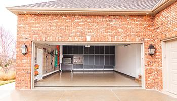 large garage cabinets stacked ceiling-high