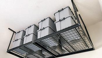 Garage Overhead Storage Hanging From Garage Ceiling
