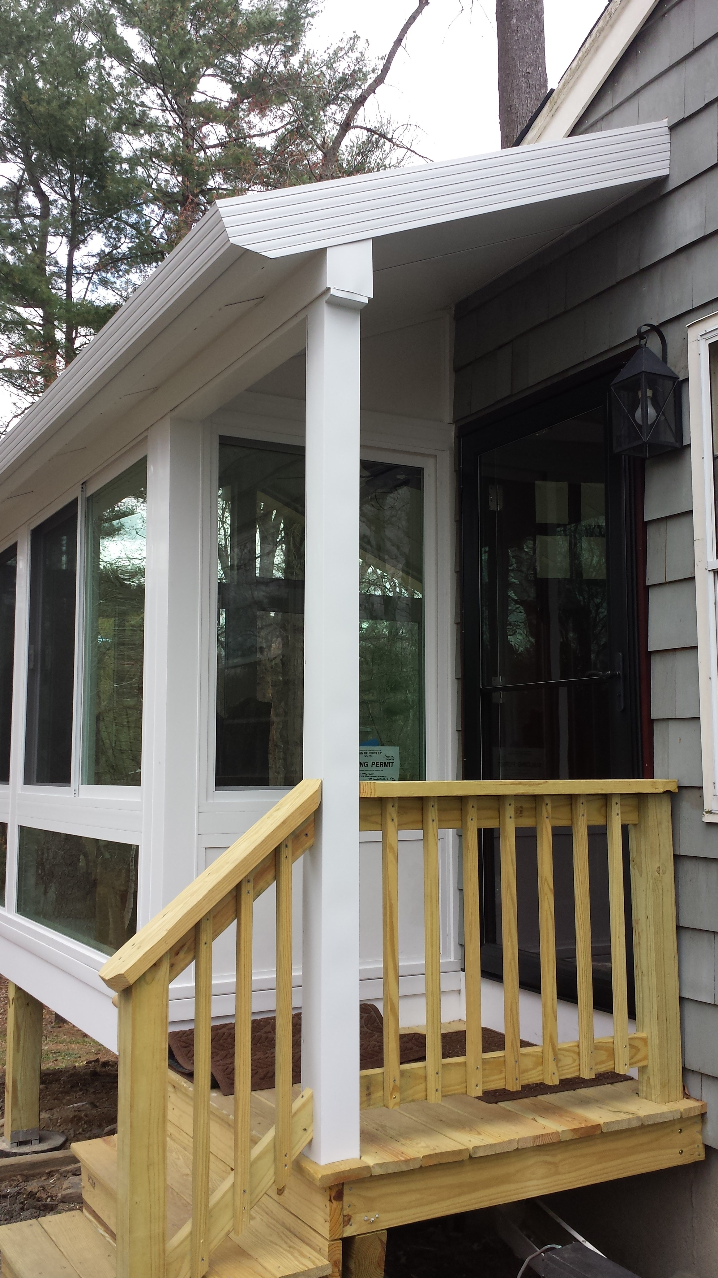How could a sunroom fit there?