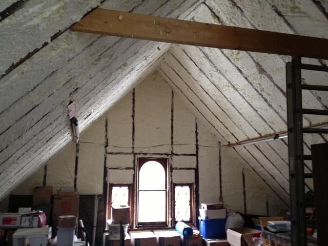 Spray Foam Insulation in Webster, NY Attic