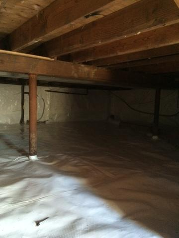Crawl Space Fixed Up in Braintree!