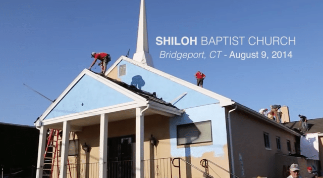 Donating a Roof to the Shiloh Baptist Church in Bridgeport